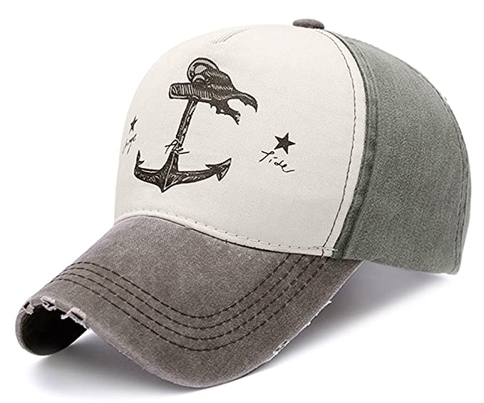 9a0c87155 Glamorstar Pirate Ship Anchor Baseball Hat Multicolor Printing Adjustable  Hip-Hop Cap