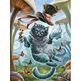LICSE DIY 5D Diamond Painting By Number Kits Animal Cat Cross Stitch DIY Craft Butterfly Decor 12X16 inches