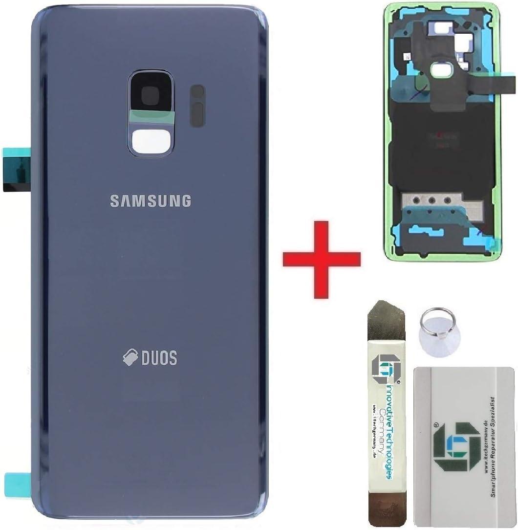 iTG® Premium Juego de Reparación de la Cubierta de la Batería para Samsung Galaxy S9 Azul (Coral Blue) – Samsung Panel Trasero Original para SM-G960F + 3M Adhesivo precortado + Herramientas: Amazon.es: