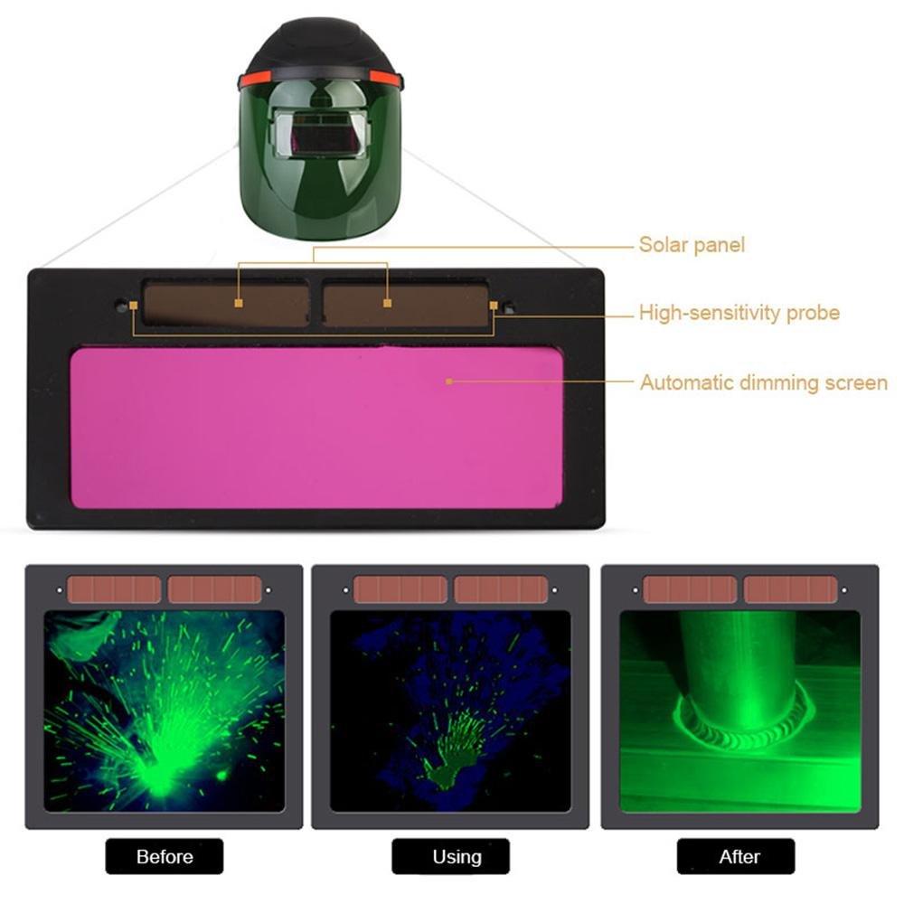 Leegoal Mascara de Soldadura Solar de Casco de Oscurecimiento Automático, Caretas para Soldar Fotosensible, Amplio Campo de Visión, Adecuado para Soldadura ...