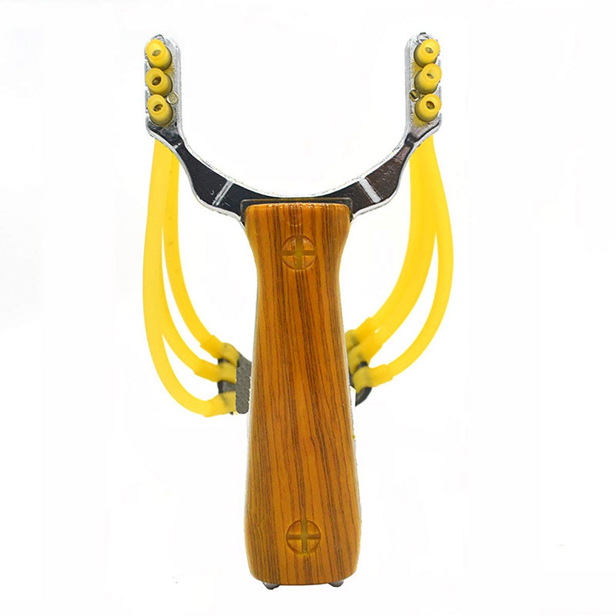 DouRyoku Slingshot Catapult Rubber Bands Toy Fishing Camping Hiking Portable Outdoor Tools Yellow
