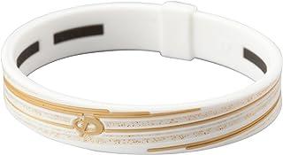 Phiten Slashline Titanium Bracelet, Blanc/doré, 17cm (17cm) Blanc/doré 17cm (17cm) PHI-TEN USA Inc TG714425