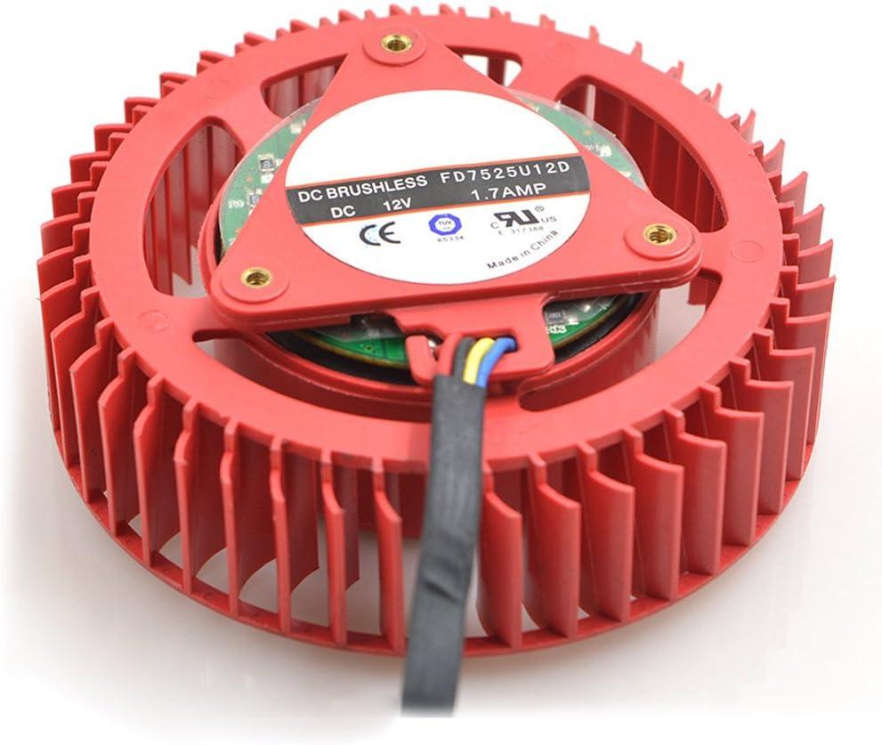 FD7525U12D 1.70A 12V 4wire PWM fan For ATI HD6970 HD7970 Graphics Card Cooling Fan