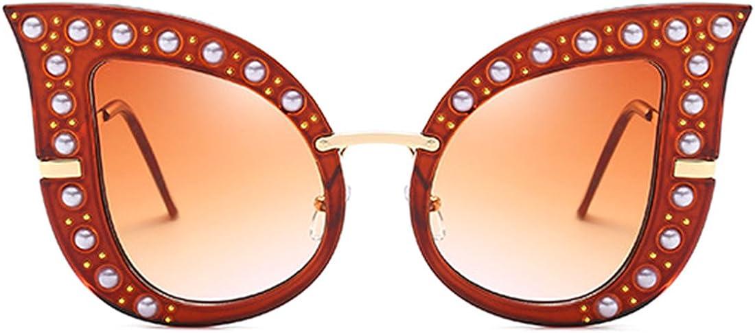 SA106 Womens Metal Jewel Hinge Oversize Butterfly Sunglasses