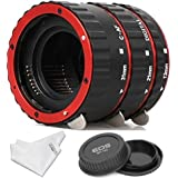 INSEESI Macro Lens Extension Tube+Lens Body and Rear Cap for Canon EOS EF Canon1D 1Ds Series 7D 5D 5DMarkII 5DMark III etc lens
