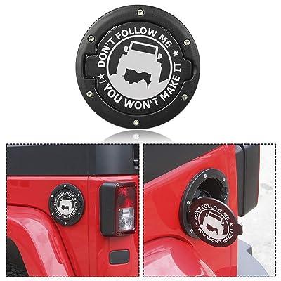 RT-TCZ Fuel Filler Door Cover Gas Cap Exterior Accessories For Jeep Wrangler JK & Unlimited 2007-2020(Jeep Logo): Automotive