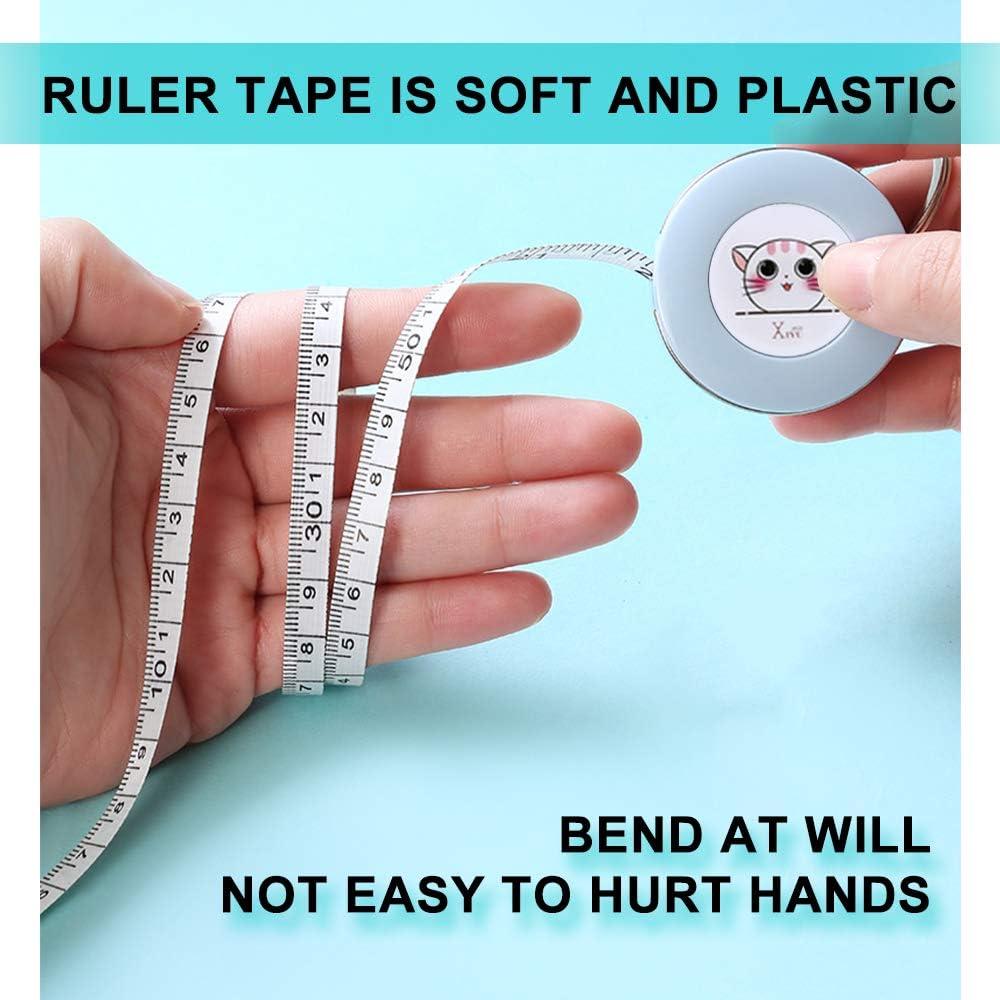 regla de 2 M//80 pulgadas Andiker Cinta m/étrica para cuerpo retr/áctil cinta de coser de tela suave para sastres