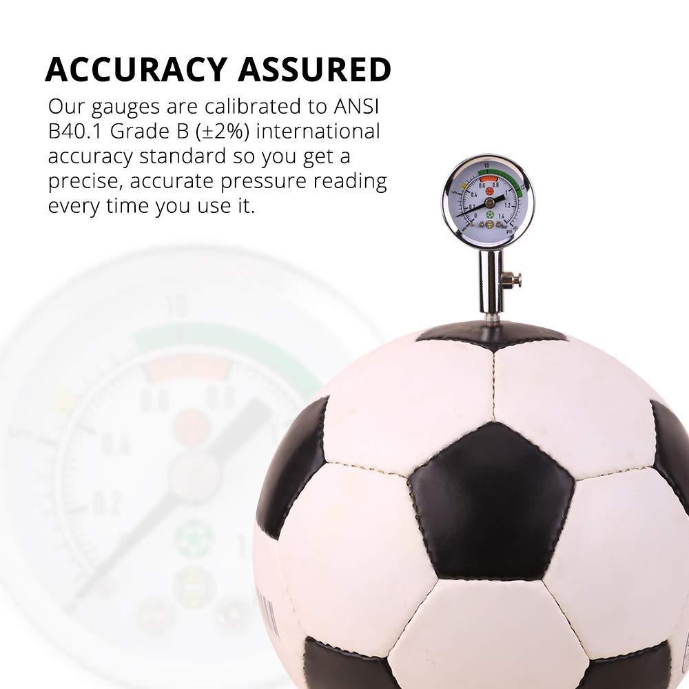Wrzbest - Medidor de presión de Aire para balón de fútbol, Rugby ...