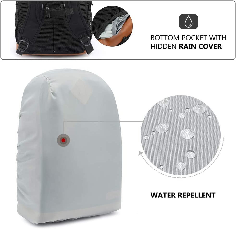 /… Black, Large Kattee Mens Canvas SLR DSLR Camera Backpack 15.7 Laptop Bag for Canon Nikon with Waterproof Rain Cover Tripod Holder
