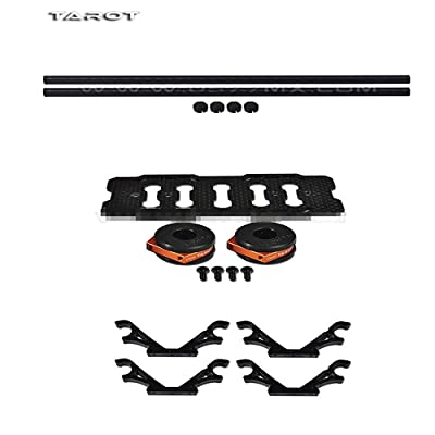 Tarot DIY Multi Rotor Drone Helicopter Assembly Kit: Fy680 650 Inverted Battery Rack Mount Tl68b14 + 4Pcs 2-Axis FPV Gimbal Camera Mount Suspension Hook + 10MM 3K Carbon Fiber Tube Boom 280MM TL68B22: Toys & Games