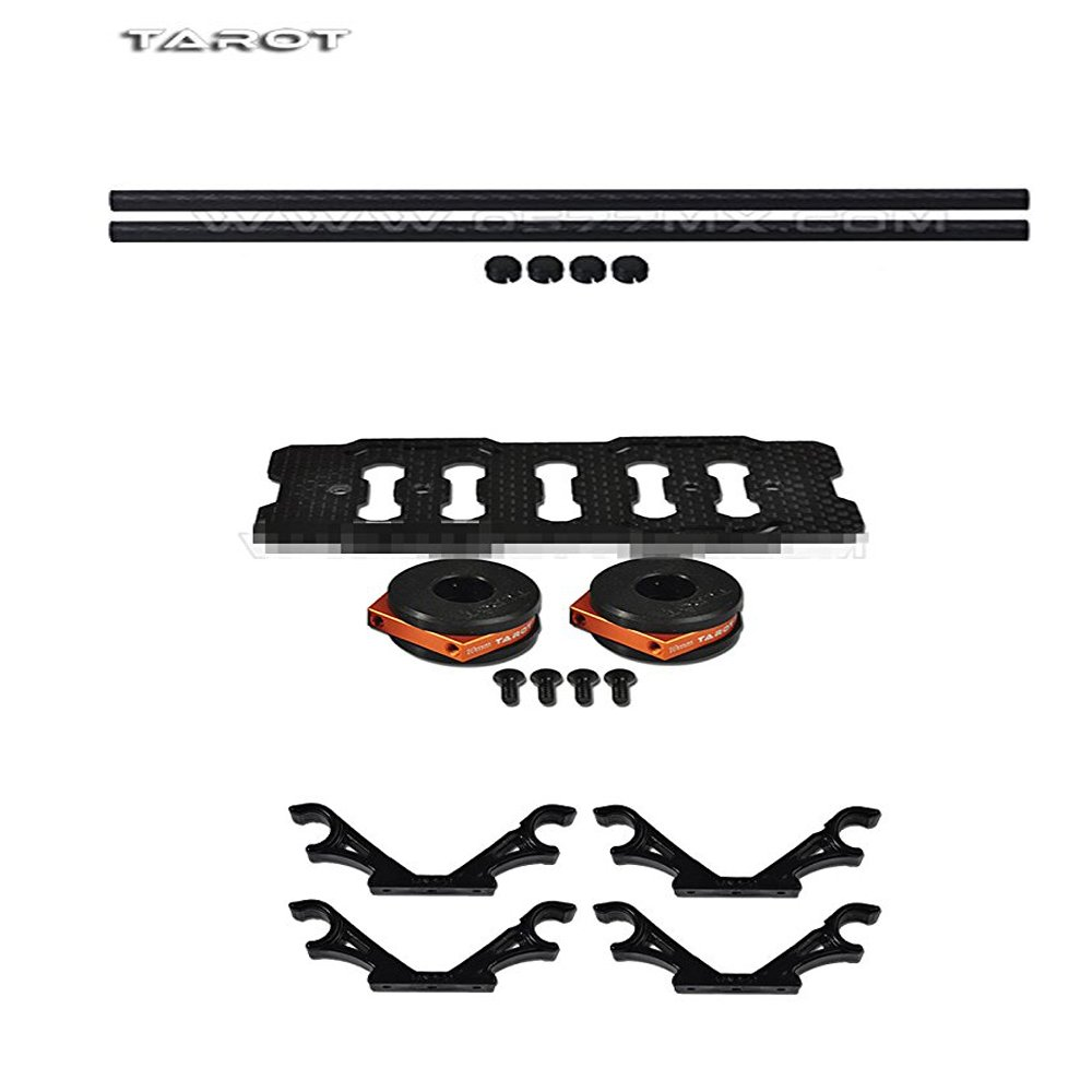 Tarot DIY Multi Rotor Drone Helicopter Assembly Kit: Fy680 650 Inverted Battery Rack Mount Tl68b14 + 4Pcs 2-Axis FPV Gimbal Camera Mount Suspension Hook + 10MM 3K Carbon Fiber Tube Boom 280MM TL68B22