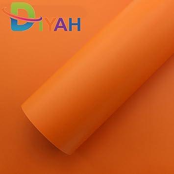 "12/"" x 60/"" Super Gloss Orange Vinyl Film Wrap Sticker Air Bubble Free 1ft x 5ft"
