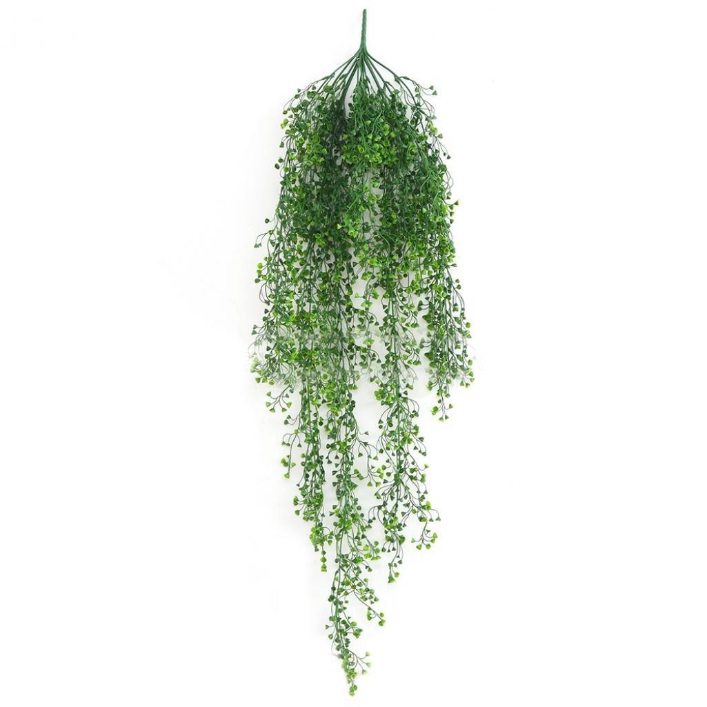 1pc人工花アイビーVine Foliage Wall Hangingガーランド植物ガーデン装飾Amesii グリーン B079SD479K グリーン