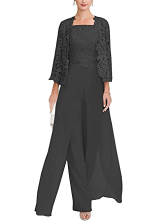 349765d5b9 UGLY Women s Three Pieces Pantsuits with Jacket Mother of The Bride Chiffon  Outfit UG006 Size 2