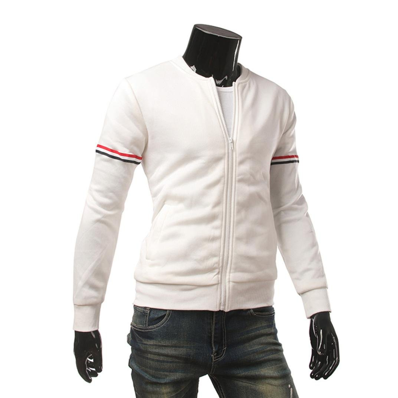 Realdo Mens Knitwear Sweatshirt Zipper Long Sleeve with Pocket No Hoodied Tops Jacket Coat Outwear