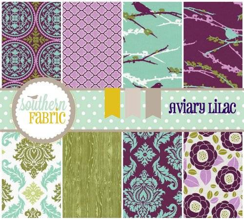 Aviary 2 - Lilac - Fat Quarter Bundle (8) By Joel Dewberry (Lilac Bundles)