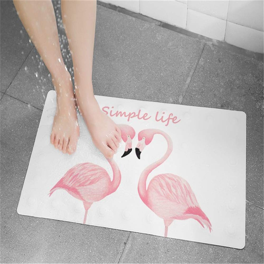 27 x 15 Inch Leaves USTIDE Odourless Baby Bath Mat PU Leather with Suction Cups for Tub Nonslip Cute Design