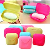 Soap Box,Muxika New Bathroom Dish Plate Case Home Shower Travel Hiking Holder Container Soap Box(Color Random) (M)