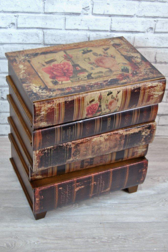 Diseño apilar libros de mesa lámpara para mesilla de noche 3 ...