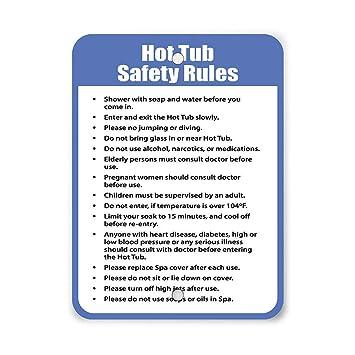 Amazon.com: Las normas de seguridad de la bañera caliente ...