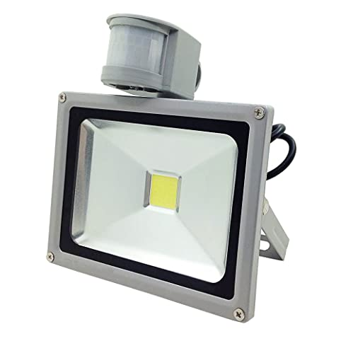 GLW 20W LED Motion Sensor Flood Light,Outdoor Waterproof Security  Intelligent Spotlight,Daylight White