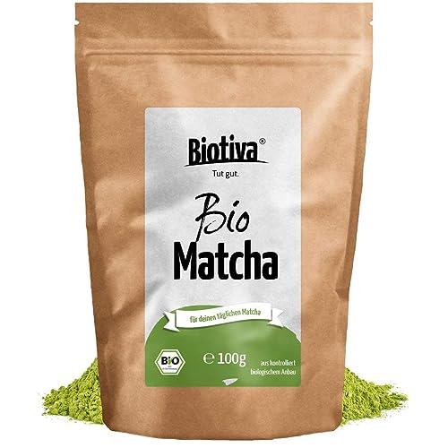 Bio Matcha-Tee (100g) - Einführungspreis - Original Matchapulver - Tee, Latte, Smoothies - hochwertigster Biomatcha - 100% nachhaltiger Anbau - Abgefüllt und kontrolliert in Deutschland (DE-ÖKO-005)