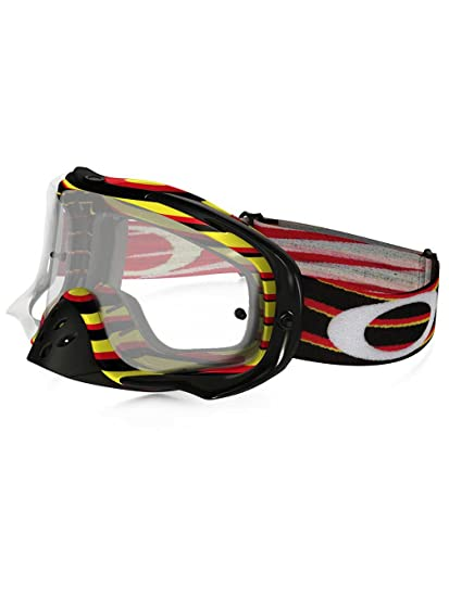 Amazon.com: Oakley Crowbar MX Nemesis Goggles (White Frame/Clear ...