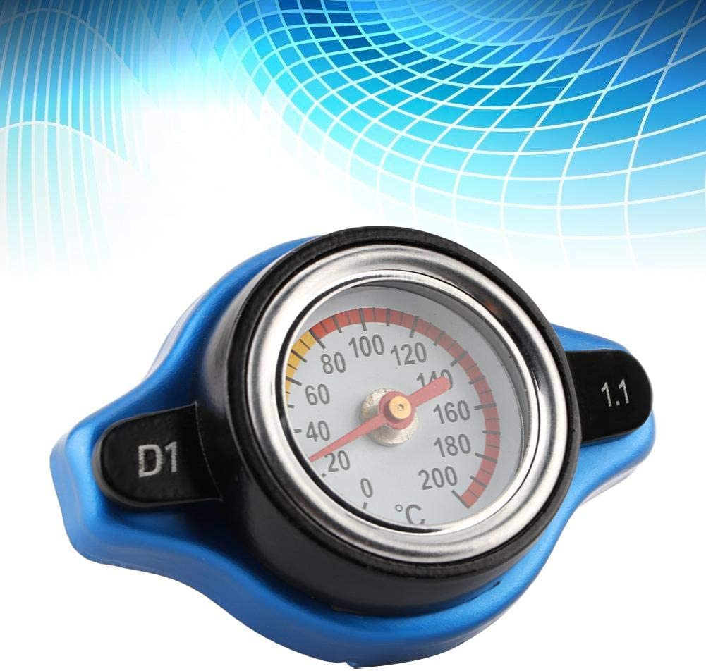 Yctze Car Thermostatic Cover,Small Head Thermostatic Cap Cover Pressure Rating w//Water Temperature Gauge 1.3bar