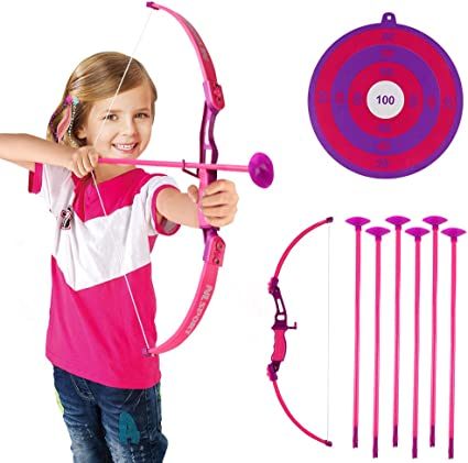 TOYS FOR GIRLS 3 10 Years Old Kids Bow Arrows Target Archery Set Toy Xmas Gift