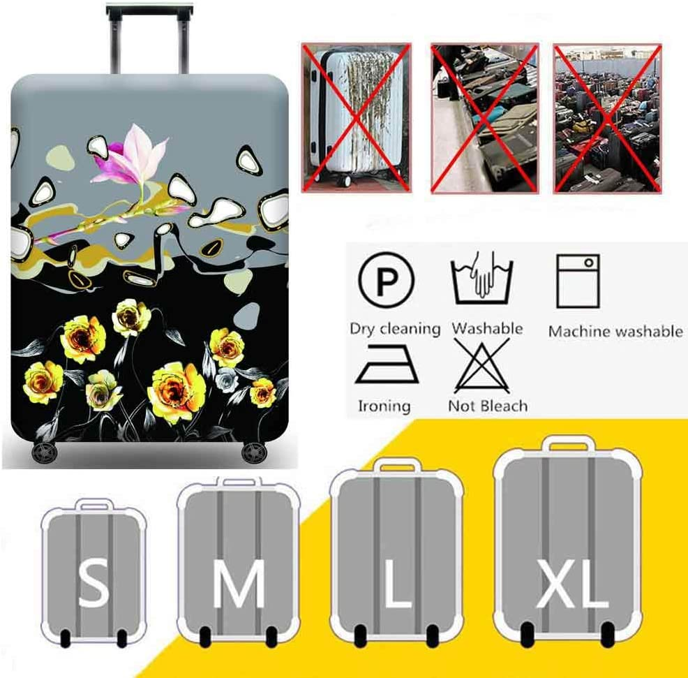 Luggage Cover 3D Print Color Painting Design Travel Suitcase Protective Cover 18-32 Suitcase Protective Cover /& High Elastic Spandex,Watercolorpainting,S