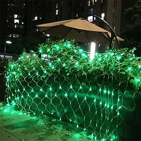 w.p. Luz Neta De Vacaciones, Decoración De Jardín, Luz LED, Luz De Red De Pesca, Estándar Europeo 220V, Luz De Navidad, Impermeable Al Aire Libre, Luz Verde 10 * 8 m2600LED: Amazon.es: Hogar