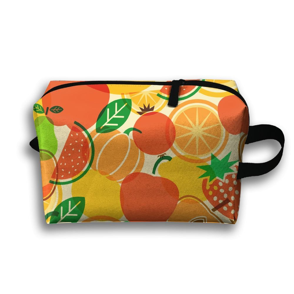 4f8257f609 YU TING COOL Fruit World Portable Travel Cosmetic Pouch Makeup Bags Brush  Organizer Bag on sale