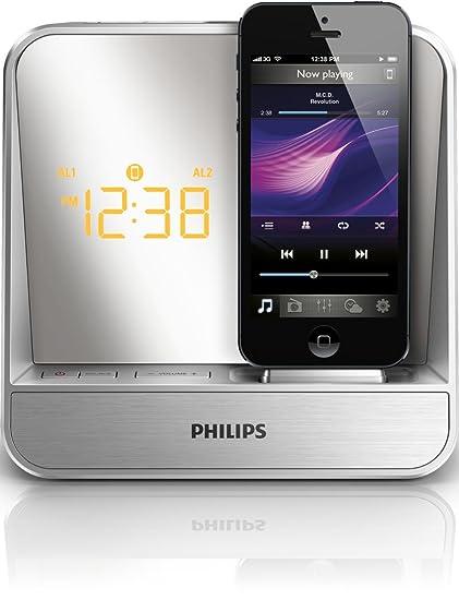 Philips Radio reloj despertador para iPod/iPhone AJ5305D/12 - Altavoces (4 W