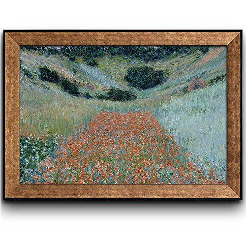 Poppy Field in a Hollow Near Giverny by Claude Monet Framed Art