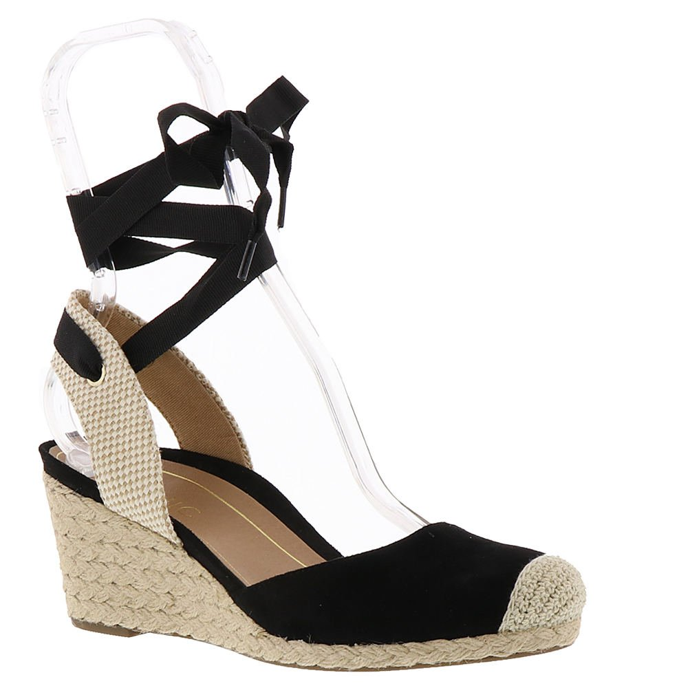 Vionic New Women's Maris Wedge Sandal Black 7