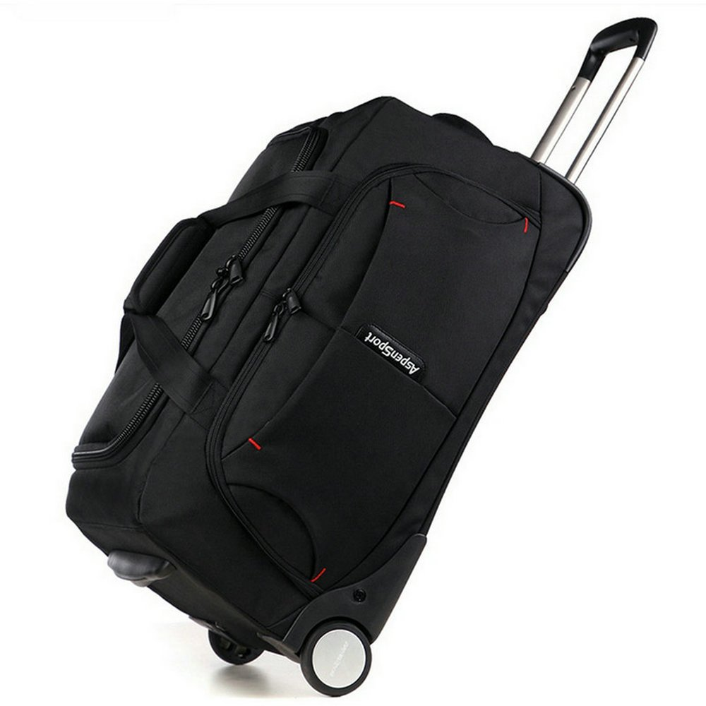 AspenSport Roller Luggage Bag Drop Bottom Wheeled Duffel Bag Travel Bag AS-T10BLK24 by AspenSport (Image #1)