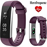 Fitness Tracker, TOOBUR Waterproof Activity Tracker with Heart Rate Pedometer Calories and Sleep Monitor, Slim Step Counter Wristband Smart Watch for Women Ladies Kids