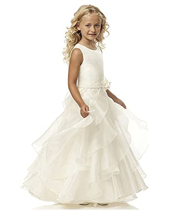 Pnehewery A-line Ivory Girls Summer Dress Girls Prom Dress For Wedding and Special Occasion