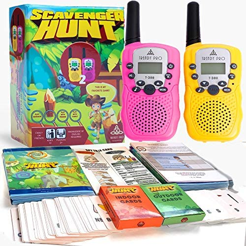 Scavenger Hunt Game for Kids – Walkie Talkies Outdoor Activities for Kids Camping Games for Families Outdoor Spy Kit for Kids Treasure Hunt Fun Outdoor Activities for Kids Board Games Girls Boys Teens