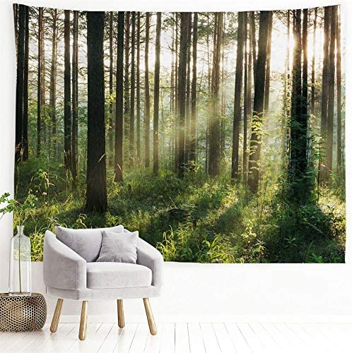 PROCIDA Home Tapestry Wall Hanging Nature Art Polyester Fabric Tree Theme