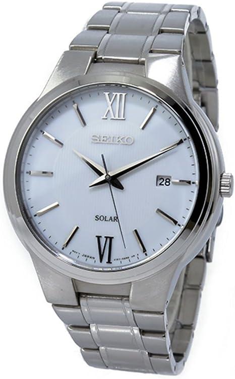 セイコー ソーラー ホワイトダイアル クオーツ メンズ 腕時計 SNE385P1 ホワイト [並行輸入品]