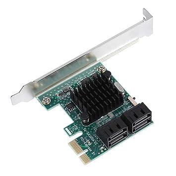 Mavis Laven SATA III 4 Puertos Tarjeta controladora PCI-e x1 ...