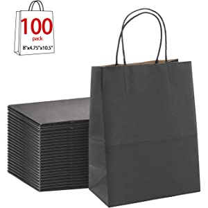 abf2e453d7b Black Gift Bags 8x4.75x10.5