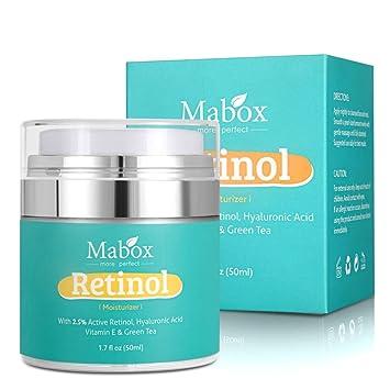 Crema hidratante para rostro con retinol, MABOX Loción Hidratante Blanqueadora Aceite Hidratante Crema Hidratante Suplemento