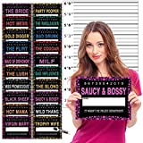 Bachelorette Party Mugshots Prop Signs - INCLUDES Height Backdrop Poster - Girls Night Out - 20 Signs