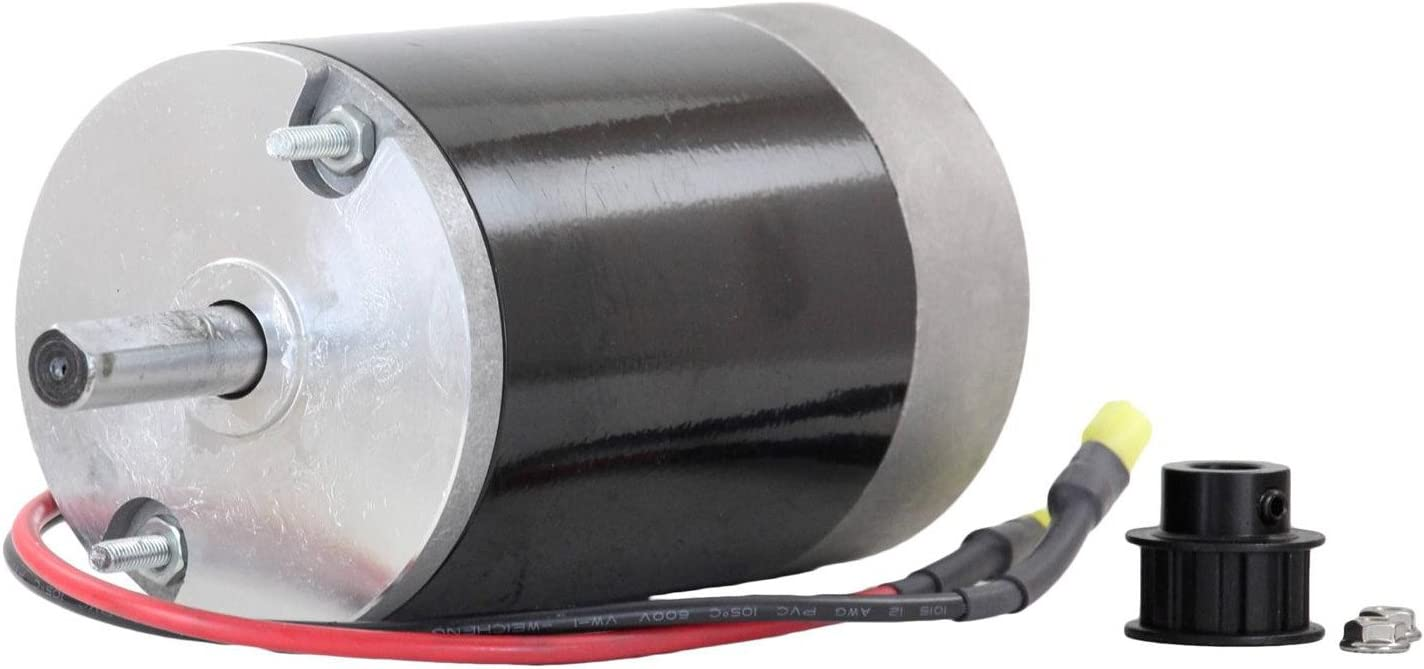 """NEW 12V DC SPINNER MOTOR FISHER POLY CASTER 1//2/"""" SHAFT 10T COGGED PULLEY 78300"""