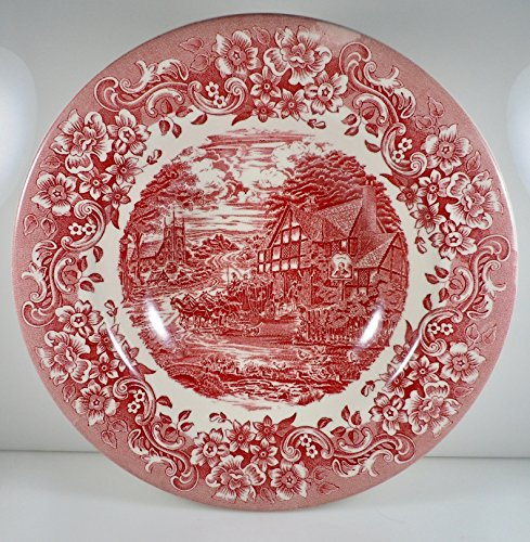 Staffordshire Engravings 17th Century Red Soup Bowl 8 1/2