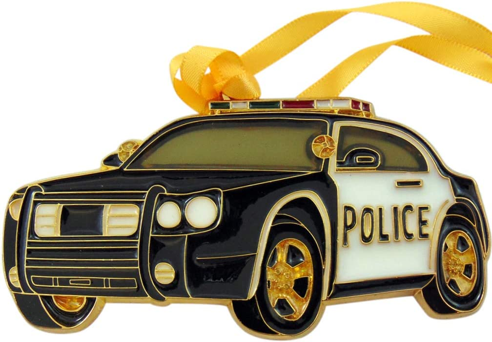 Westmon Works Police Ornament Patrol Car Christmas Tree Decor Back The Blue Officer Support Decoration