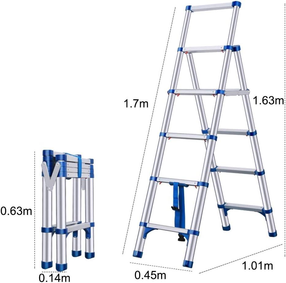 Telescópico Escalera En Forma De A, Escalera Plegable Portátil para Ministerio Loft Cubierta, Amplio Escalón Antideslizante, Azul (Size : 1.92m/6.3ft): Amazon.es: Hogar