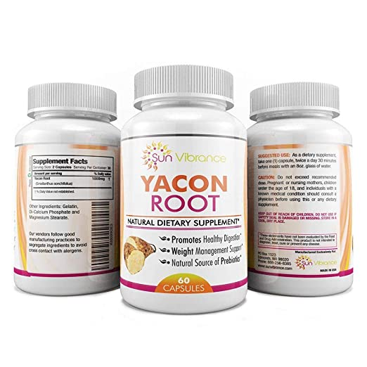 Amazon.com: YACON ROOT EXTRACT PILLS 100% PURE ORGANIC * 1000mg * Yacon Syrup Alternative * Weight Loss Capsules * All Natural Low-Gylcemic Superfood with ...